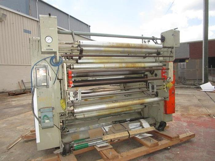 """Used Used 64"""" Gloucester 124 dual turret winder with nips and lay ons"""