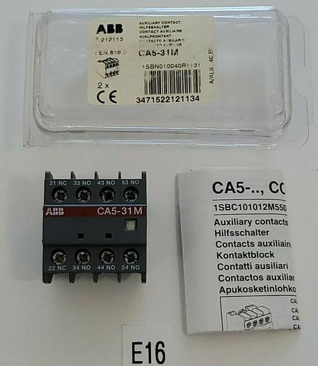 *NEW* ABB CA5-31M AUXILIARY CONTACT BLOCK + WARRANTY & FREE SHIPPING!