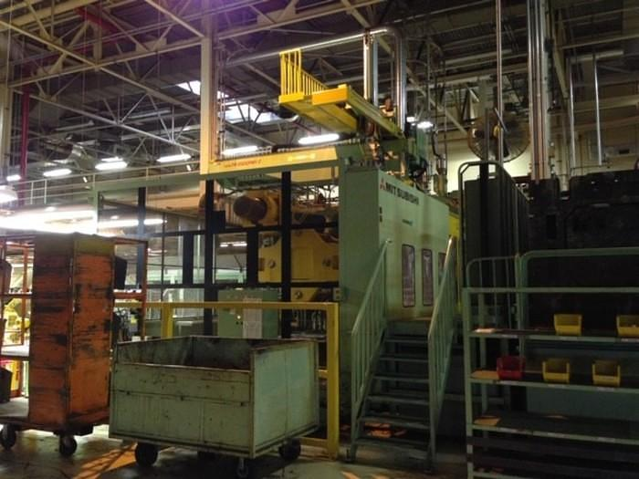 (2) MITSUBISHI 4500MM3-740 4500 TON PLASTIC INJECTION MOLDING MACHINES