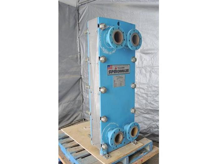 Used USED HEAT EXCHANGER, PLATE, 161.5 SQ. FT., STAINLESS STEEL
