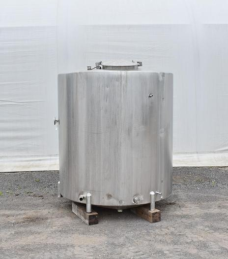 Used USED 1250 GALLON TANK, STAINLESS STEEL, CIP TANK