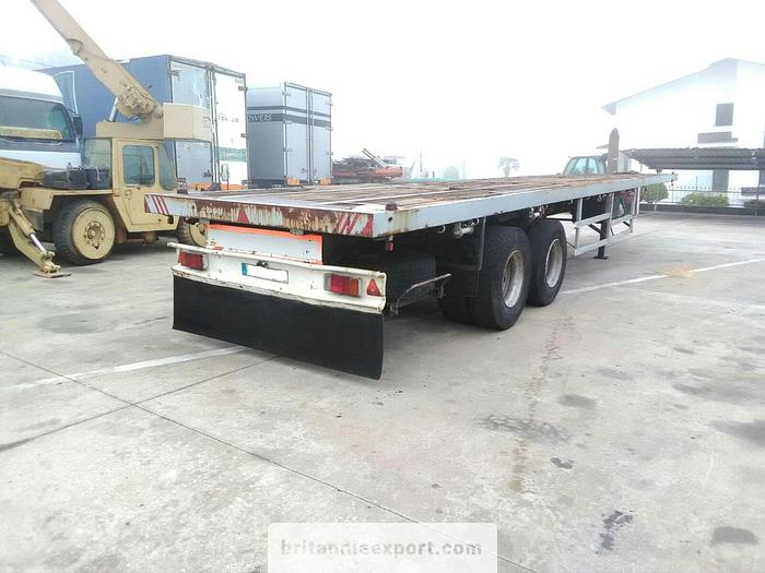 Used 1990 Listrailer two axle trailer with twist locks