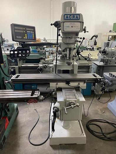 """Used Acra Milling Machine 10"""" x 50"""" Table Variable Speed Head"""