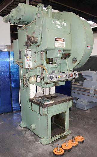 "Used Minster Gap Frame Single Crank Punch Press 60 Ton x 32"" x 21"""