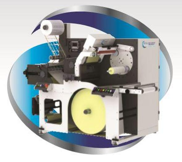 BGM Elite eDSR t Easy Load Die Cut Slitter Semi- Automatic Turret Rewinder