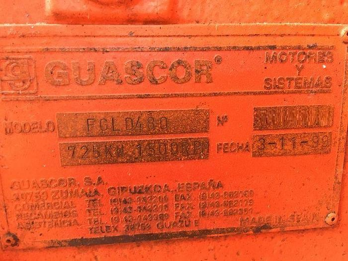 725 kW Containerized Gas Power Plant Guascor FGLD 480