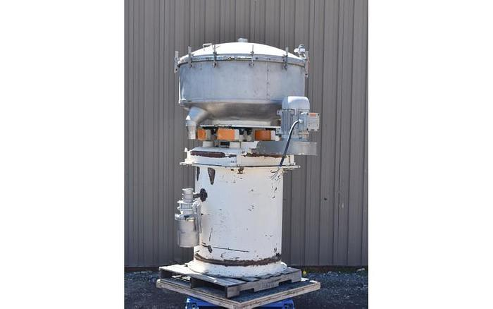 "Used USED GUMP SCREEN, 48"" DIAMETER, ''PRESSURE SIFTER'', STAINLESS STEEL, TRIPLE DECK"
