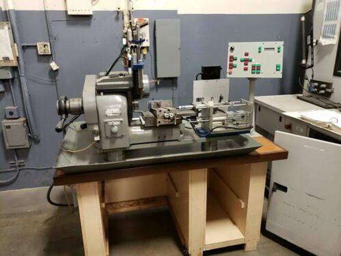 Used HARDINGE MODEL HSL-59 AUTOMATIC PRODUCTION SPEED LATHE W/ CONTROLS AND CUTOFF