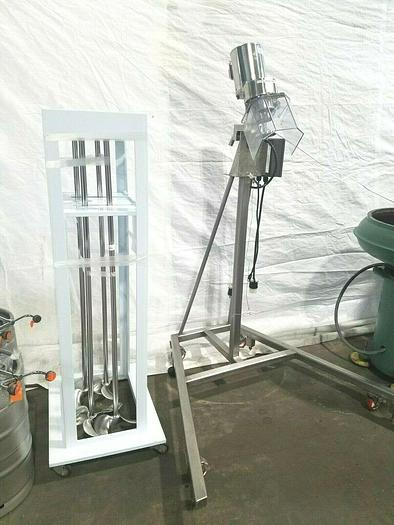 Used Lightning Stainless Steel Drum Mixing Blending Machine Mix Mixer with extra Blades