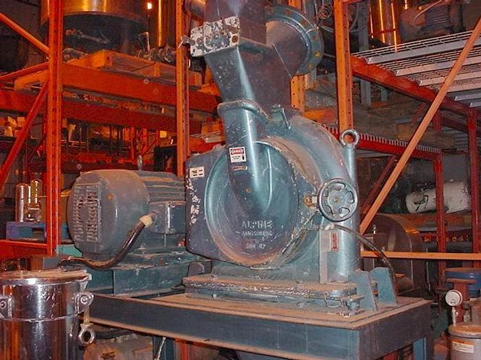 USED ALPINE MILL HAMMER MILL, CARBON STEEL, 60 HP