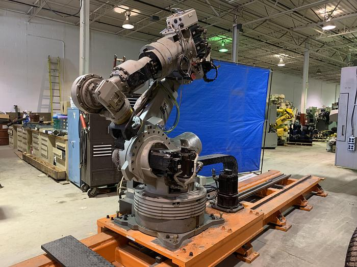 MOTOMAN ES200N 6 AXIS CNC ROBOT WITH NX100 CONTROLLER ON 16' 7TH AXIS TRACK