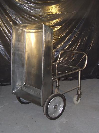 Używane Nierdzewna wózko-wanna na kółkach uchylna