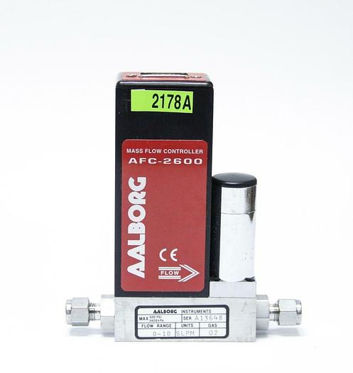 Used Aalborg AFC-2600 Mass Flow Controller 500 PSI 0-10 Flow (2178A)