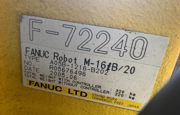 FANUC M16iB/20 6 AXIS CNC ROBOT WITH FANUC RJ3IB CONTROLLER