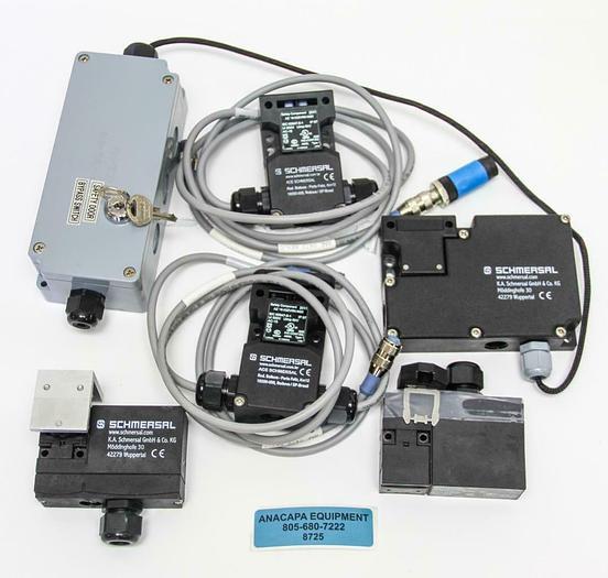 Used Schmersal AZM 170-11ZRKA, AZM 161SK-12/12RK-024 Interlock Switch Lot of 5(8725)W 7899359122296