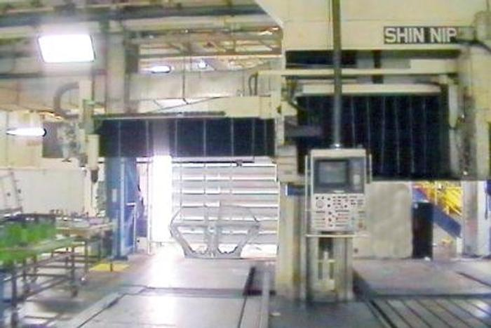 1985 Shin Nippon Koki HF-4PK Gantry Mill | 157 X 79 X 51,157 X 79 TABLE,33,000 LB LOAD,FANUC 12M