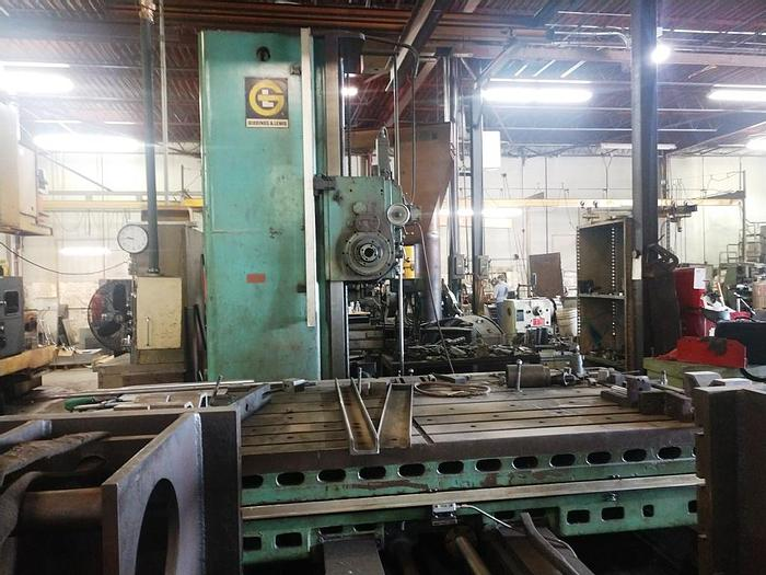 """Used 1971 Giddings & Lewis Table Type Boring Mill, 70-D5 T, Table 60"""" X 120"""",  120"""" X Travel, 72"""" Y Travel, 36"""" Z Travel(Quill), 30 HP, 1000 RPM"""