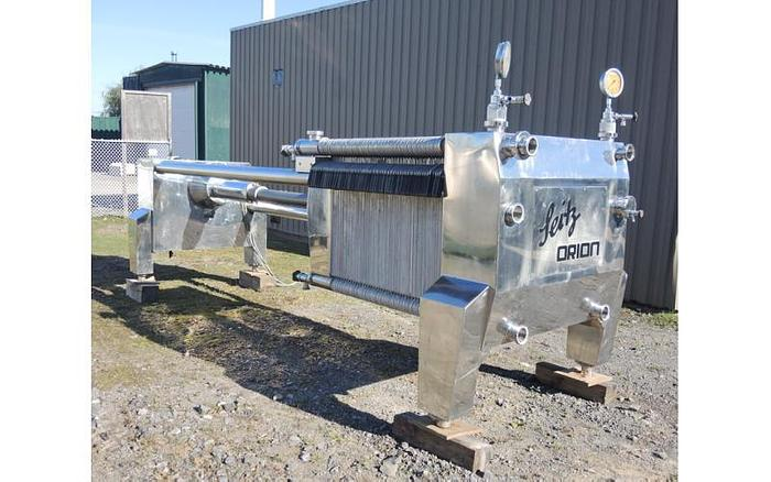 "USED FILTER PRESS, PLATE & FRAME, 39"" X 39"", STAINLESS STEEL"