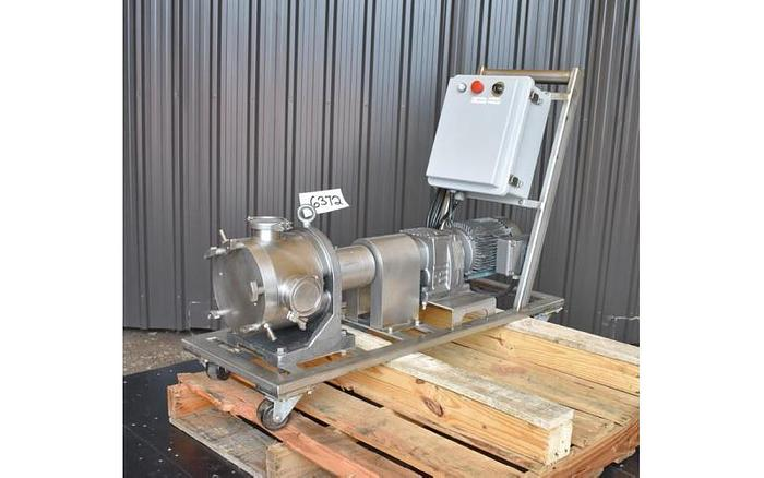 Used USED SINE POSITIVE DISPLACEMENT PUMP, MODEL MR130, STAINLESS STEEL, SANITARY