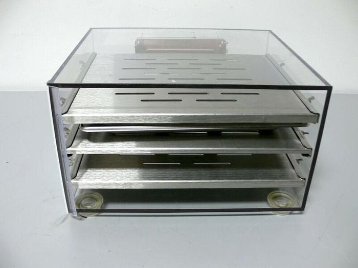 Used Acrylic C02 N2/O2 Chamber w/ Aluminum Shelves