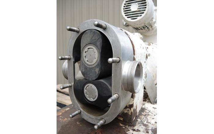 USED TRI-CLOVER ROTARY LOBE PUMP, STAINLESS STEEL