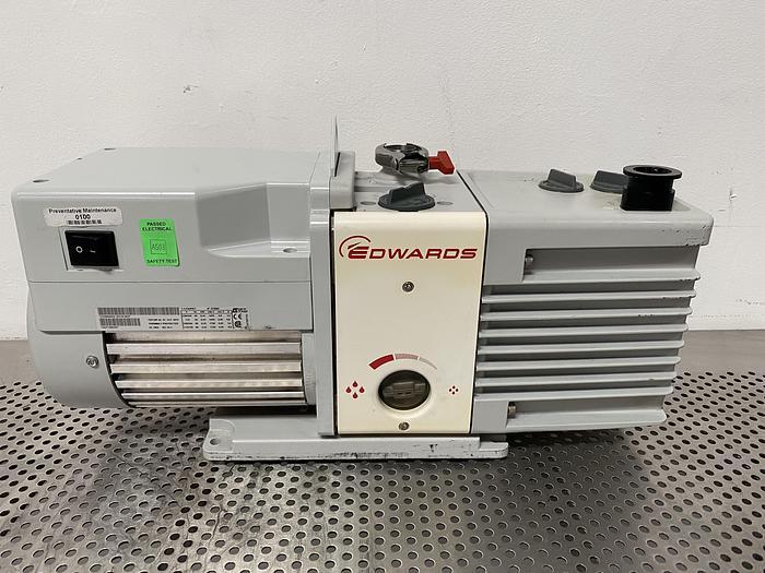 Used Edwards RV12 Rotary Vane Vacuum Pump 115V w/ KF25 Fitting
