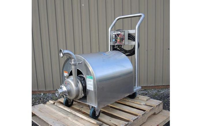 """Used USED CENTRIFUGAL PUMP, 2.5"""" X 2"""" INLET & OUTLET, STAINLESS STEEL, SANITARY"""