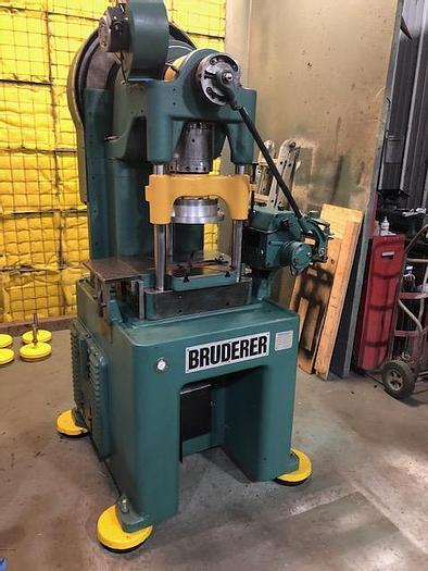Used 30 Ton, BRUDERER, No. BSTA 30, 3 POST HIGH SPEED PRESS