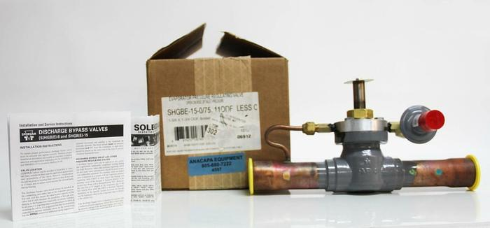 Sporlan Pressure Regulating Valve Discharge Bypass SHGBE-15-0/75 110DF NEW (4597