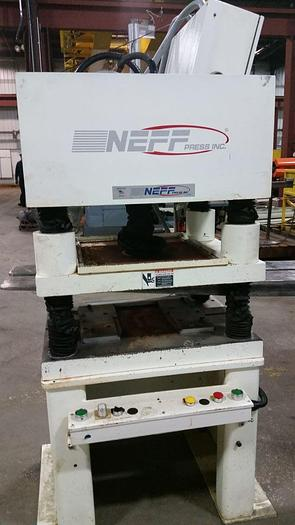 Used 15 TON NEFF 4-POST HYDRAULIC PRESS