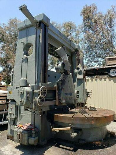 "HENRY BROADBENT TWIN HEAD VERTICAL TURRET LATHE 108"" TABLE BEST IN THE"