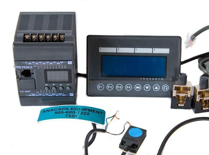 Used Keyence Programmable PLC Controller KV-16AT, KV-D20, EZ-18T USED (7526) W