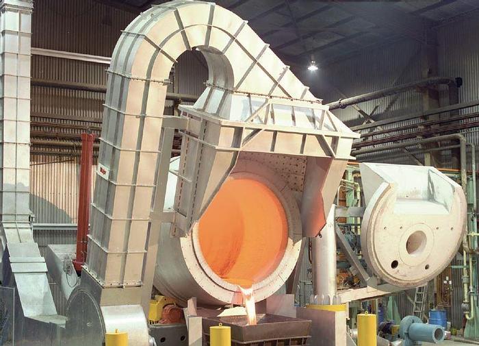 Used Major Aluminum Tilting Rotary Melting Furnace: MC-403