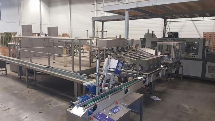 Used Newweigh lineair weighing and packing line