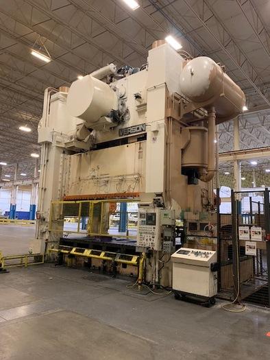 """1600 ton Verson 180""""x96"""" SSDC Stamping Press"""