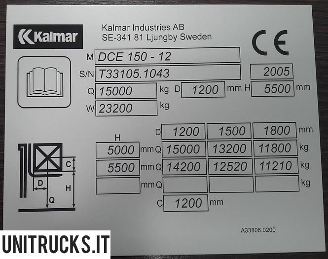 Usata 2005 KALMAR DCE 150-12