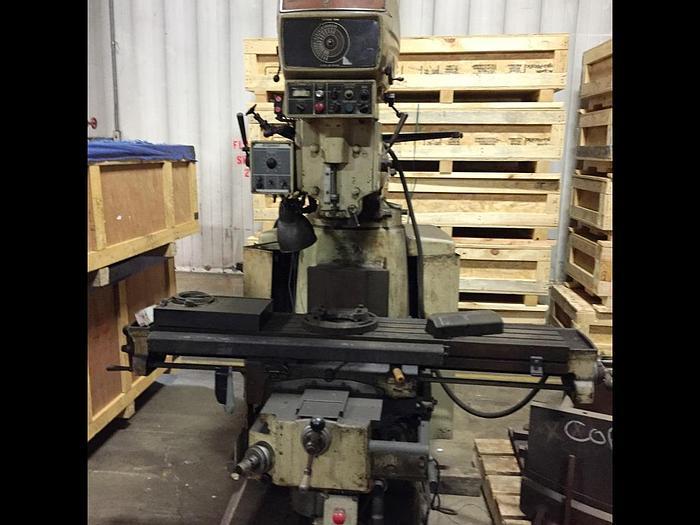"Used Bridgeport Series II Vertical Milling Machine, Table 11"" X 58"", X Travel 30"", Y Travel 15"", 4 HP, 50-3500 RPM, Power Draw Bar"