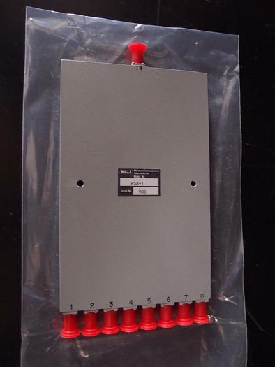 MCLI PS8-1 8 Way Stripline Power Divider, 30W, 500 To 1000 MHz, New (1157)