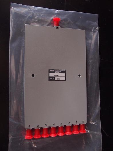 MCLI PS8-1 8 Way Stripline Power Divider, 30W, 500 To 1000 MHz, New (1157)