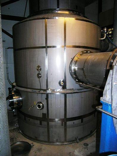 Used 1-pass MVR falling film vacuum evaporator unit