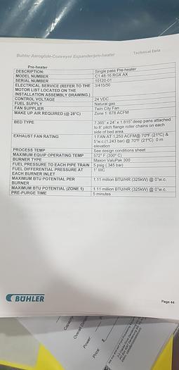 AEROGLIDE AEROEXPANDER 2 STAGE OVEN (EXPANDER-IMPINGEMENT/FLUIDISED)  CI 48-16 RGX AX