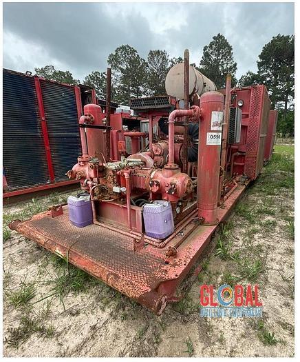 Used Item 0598 : Sullair 1350CFM / 350PSI Air Compressor & Ariel JGA-2 2-Stage Booster Combination