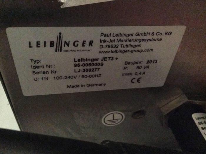 2013 Leibinger ink jet  JET 3+