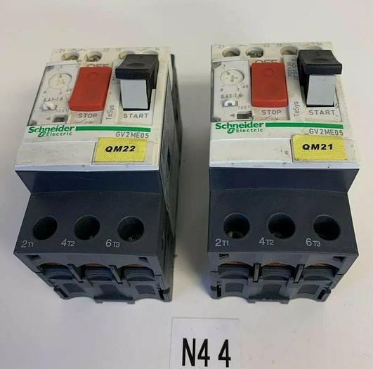 Used Telemecanique GV2ME05 Manual Motor Starter (Lot Of 2)