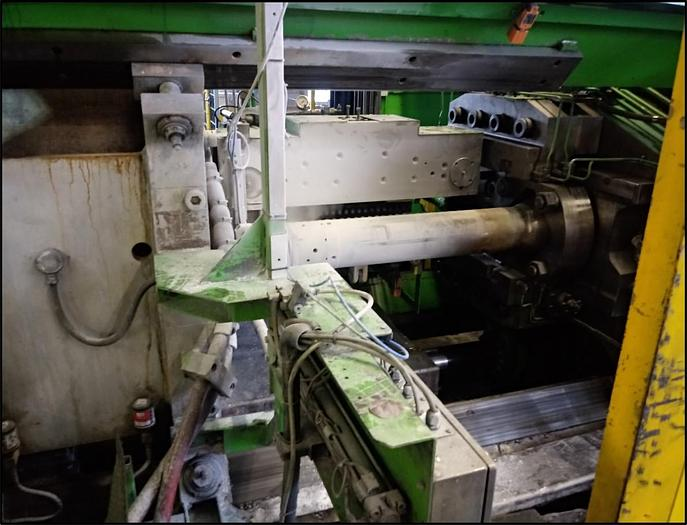 Used 2000 mton SMS Aluminum Extrusion Line with Log Heater and Hot Log Shear: EX-494