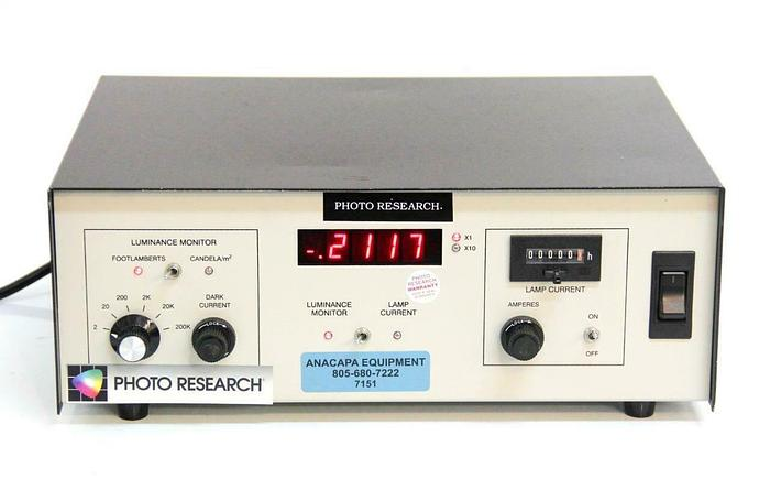 Used Photo Research Inc. LRS-455-6-1 Calibration Source Controller Luminance (7151