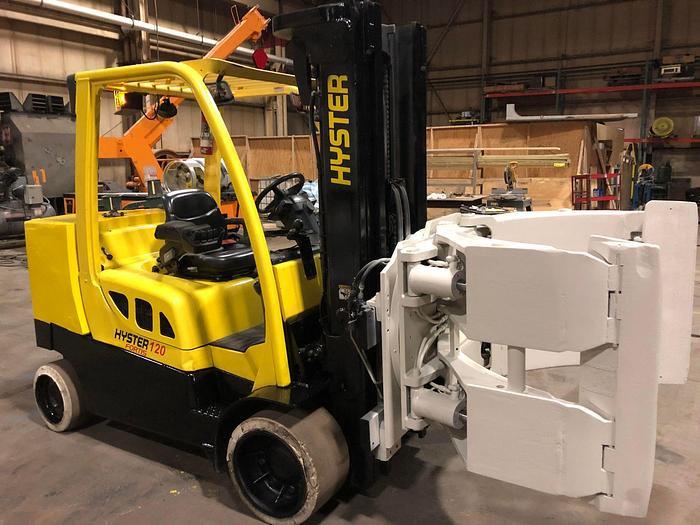 Used 12,000 POUND HYSTER MODEL S120FTPRS ROLL CLAMP TRUCK MFG. 2008