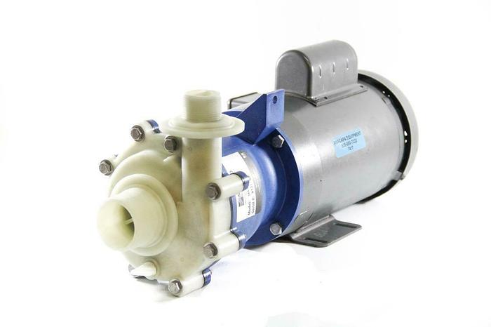 Used Met-Pro Sethco 344-A33 PM-1500 Magnetic Drive End Suction Pump w/ Motor (7417)G