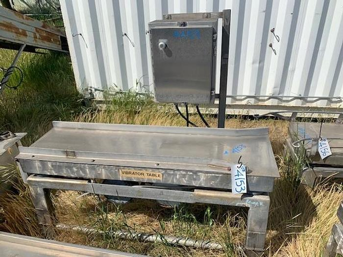 Used Cleveland Stainless Steel Vibratory Shaker Table Model FA-1860