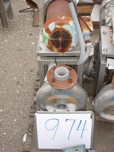 """Used Wallwin 2x1.5"""" Centrifugal Pump S/S Contact"""